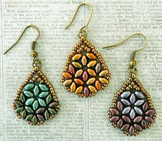 "I'm calling these ""Beth SuperDuo Earrings"" after the name of the woman who created the original design. I saw her earrings on Pinterest a fe..."