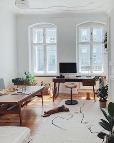 Home office essentials - Home office essentials in Claudi& dreamy Berlin apartment. Berlin Apartment, Interior And Exterior, Interior Design, Workspace Inspiration, Office Essentials, Home Office Decor, Home Decor, Mid Century House, Midcentury Modern