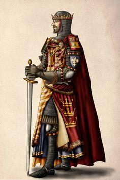 King Arthur and Excalibur.