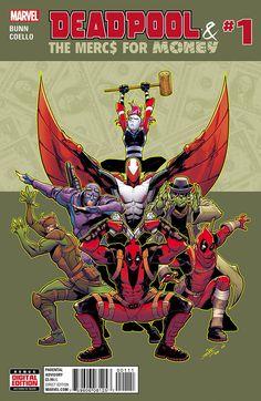 Deadpool & The Mercs For Money Vol. Mo' Mercs, Mo' Monkeys (Deadpool & The Mercs For Money Dead Pool, Comic Book Covers, Comic Books Art, Book Art, Gi Joe, Marvel Comics, Marvel News, Teenage Warhead, Panini Comics