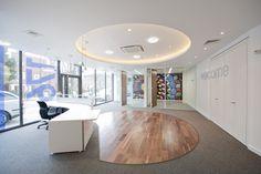 Balance carpet tiles installed throughout the London offices of the Evangelical Alliance. Tile Installation, Carpet Tiles, Tile Design, Flooring, Interior Design, Ea, Offices, Table, Reception