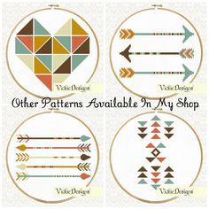 Triangles Geometric Minimalist Tribal Cross by VickieDesigns