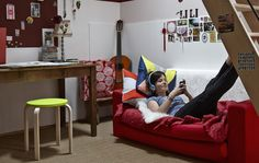 Create a cool space for teenagers to hang out