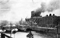 """""""The steel behind the laugh,  The Four Courts burnt."""""""