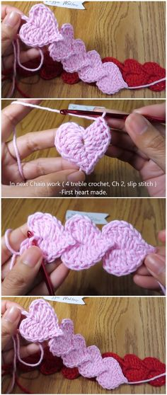 Learn to crochet Easy Hearts Cord - - Cord craftstodowhenbored crochet Eas .Learn to crochet Easy Hearts Cord - - Cord craftstodowhenbored crochet Easy hearts SC Foundation - no chain crochettechniques crochet techniques chainsSC Foundation Crochet Cord, Crochet Stitches, Crochet Baby, Free Crochet, Crochet Patterns, Yarn Crafts, Fabric Crafts, Diy Crafts, Cordon Crochet