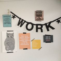 Workspace Hanging Posters, Home Office Space, Wall Decorations, Inspiration, Sweet, Home Decor, Biblical Inspiration, Candy, Decoration Home