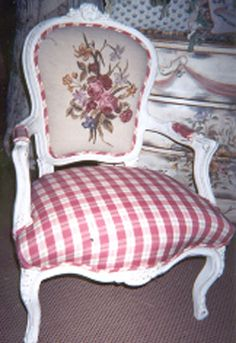 Needlepoint chair back