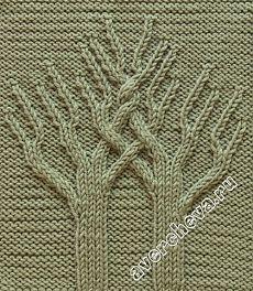 узор 520 « Древо Жизни»   каталог вязаных спицами узоров