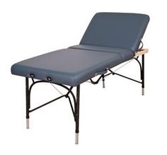 "Oakworks - Alliance - Aluminum Portable Massage Table with back support.     Specifications:  Maximum Operating Weight: 550 lbs  Weight: 30-36 lbs  Height Range: 24"" - 34""  Width 30""  Length: 73""  Top: Backrest Top  Padding : Semi-firm  Standard Ultimate Access End Panel/Shiatsu Cables"