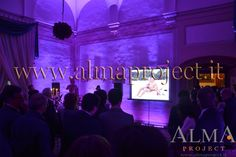 ALMA PROJECT @ Villa Corsini - Sala Gordigiani - Projector & Led bars on wall 332