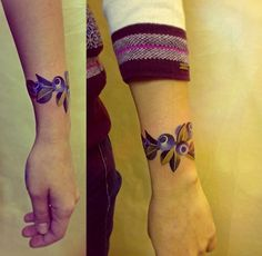 Blueberry Bracelet Tattoo by Sasha Unisex