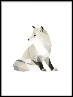 A cool poster with polygon patterns, of a fox. You can find more polygon posters in our graphic category, match with other designs in a collage. Polygon Pattern, Polygon Art, Graphic Design Illustration, Graphic Art, Poster 40x50, Desenio Posters, Kunst Poster, Animal Posters, Geometric Art