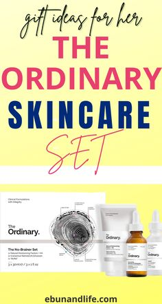 If you are looking for gifts to give out this season, try The Ordinary Skincare Sets. It's cheap and affordable. #theordinaryskincare #giftforher #holidaygiftideas #skincareproducts #bestskincareproducts #beautyproductsthatreallywork