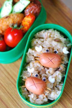 Sausage Crab Bento #cocinacreativa                                                                                                                                                                                 More
