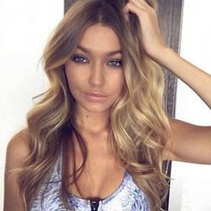 @gigihadid how does one get those waves?  #hair #wavyhair #blonde Reposted Via…