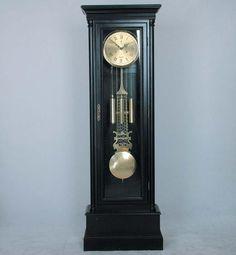 Madison Black Grandfather Clock 35 Day Movement