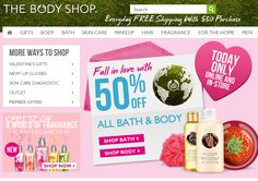 50% off all bath & body today at The Body Shop, ditto online coupon via The Coupons App