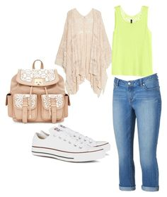"""Untitled #3"" by reddoordancer ❤ liked on Polyvore featuring MANGO, H&M, Jennifer Lopez and Converse"