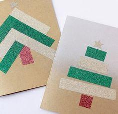 Christmas Tree Washi Tape DIY Card