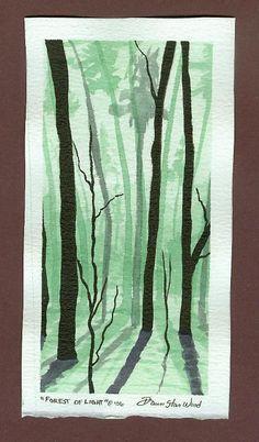 Forest of Light postcard by DawnstarW.deviantart.com on @DeviantArt