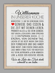 """""""KÜCHEN HAUSORDNUNG"""" Kunstdruck von Smart-Art Kunstdrucke auf DaWanda.com"""