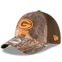 cbf33f7586f Green Bay Packers New Era Realtree Camo Olive Green Neo 39THIRTY Flex Hat   GreenBayPackers