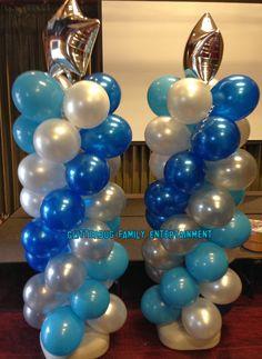 Balloon columns for birthday party