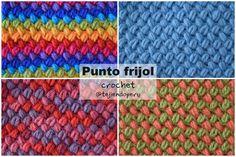 Crochet bean stitch: video tutorial (english subtitles)! Punto frijol tejido a crochet paso a paso!