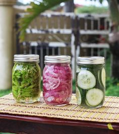 Keep pickled vegetables in the fridge that you can add to your salads and sandwiches anytime.
