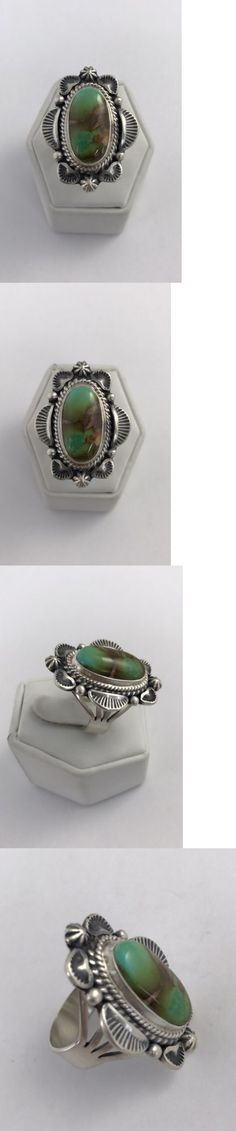 Rings 98500: Native American Sterling Silver Navajo Handmade Royston Turquoise Ring Size : 9 -> BUY IT NOW ONLY: $99.0 on eBay!