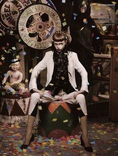 "Bergdorf Goodman Spring/Summer 2008 - ""In Realms Fantastical & Strange"". Circus. Editorial"