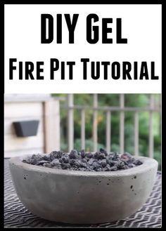 DIY Gel Fire Pit Tutorial