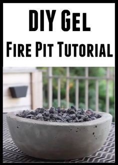 DIY Gel Fire Pit Tutorial
