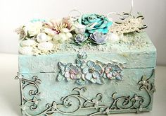 my jewel box using Tattered Angels, Dusty Attic and Prima
