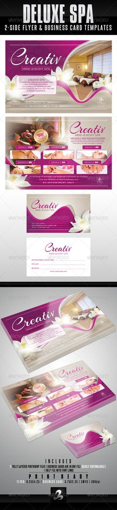 Deluxe Spa Flyer & Business Card Templates