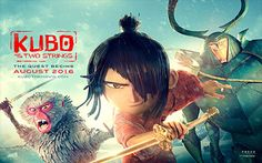 KUBO AND THE TWO STRINGS - animated epic action-adventure movie directed by Travis Knight All star voice cast including Art Parkinson, Rooney Mara, Charlize . New Movies, Movies To Watch, Movies Online, Art Parkinson, Animated Cartoon Movies, Broken Film, Samurai, Kubo And The Two Strings, Free Films