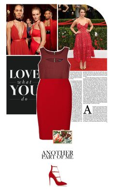 Some kind of heaven. by eve-angermayer on Polyvore featuring polyvore fashion style Roland Mouret Christian Louboutin Monique Lhuillier Balmain clothing red Sexy pencilskirt eveangermayer angermayerevelin