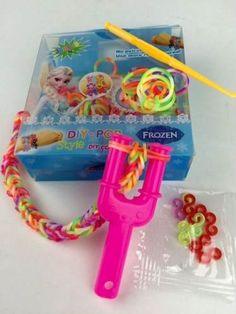 kit frozen para pulseiras - rainbow loom