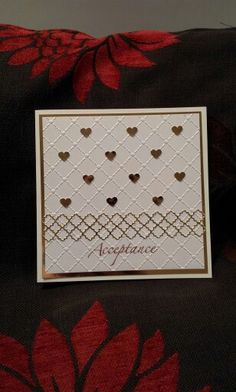 Card using memory box die and Sue Wilson embossing folder