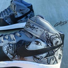 Dimes   Custom hand painted Nike Air Force 1 shoes by ArtOfTheSole