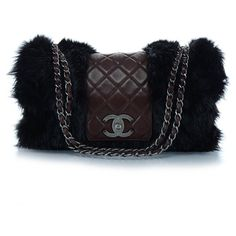 CHANEL Fantasy Fur Arctic Flap ❤ liked on Polyvore featuring bags, handbags, shoulder bags, chanel, quilted shoulder bag, shoulder handbags, black shoulder bag and quilted chain strap shoulder bag
