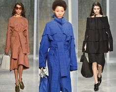 Os looks estruturados do desfile da Marni (Foto: Getty Images)