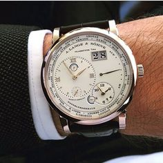 #wristshot of the new @alangesoehne #Lange1 #Timezone in Honey Gold with #Dresden replacing #Berlin on the outer bezel. Story on #WatchTime ⌚️ Photo credit: @watchtime.net