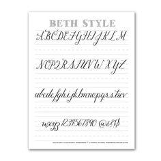 10 Free Hand Lettering Practice Worksheets   www.bydawnnicole.com