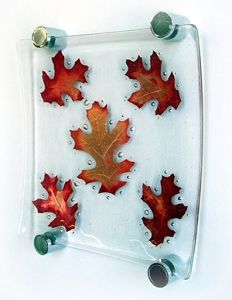Copper Leaf Plate Project - Glass Fusing Projects At Delphi Glass