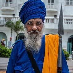 A Great Sikh Warrior - During the Mughal rule of India (15561707) Sikhism was in conflict with the Mughal empire because prominent Sikh Gurus were being killed by Islamic rulers for refusing to convert to Islam and for opposing the persecution of Sikhs and Hindus. Subsequently Sikhism militarised to oppose Mughal hegemony. (Wikipedia)  Today you will still find Sikh warriors in traditional dress roaming around the Sikh Temple. They are somewhat nomadic (like us) traveling around from temple…