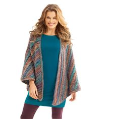 Lion Brand® Homespun® Necks Best Thing Triangle Shawl (Crochet)