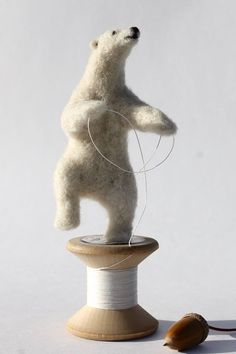 THREAD BEAR ...or... 'Dancing a Reel on a Reel' by DinnyPocock