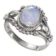 Antiqued Sterling Rainbow Moonstone Ring ($100) ❤ liked on Polyvore featuring jewelry, rings, celtic rings, celtic jewellery, gothic rings, rainbow moonstone jewelry and rainbow moonstone pendant