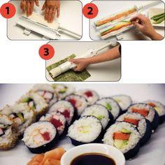 Easy Sushi Maker ==> http://www.lovedesigncreate.com/sushezi-sushi-made-easy/
